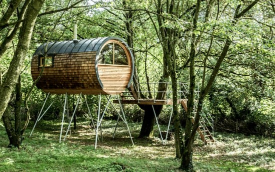 Bower House Eco Cabins Are Luxurious Tree Houses Made From